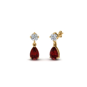 Kids Earring With Ruby