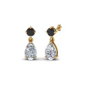 Black Diamond Drop Earring