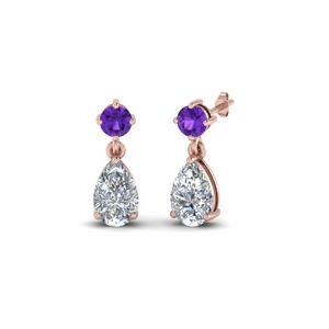 Purple Topaz Teardrop Earring