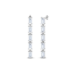 Straight Baguette Drop Earring