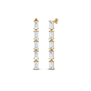 Straight Baguette Diamond Earring