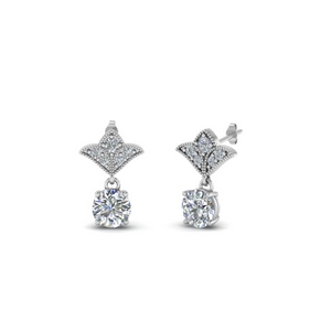 Half Carat Diamond Drop Earring