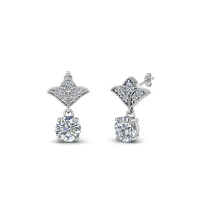 1 Ct. Round Diamond Design Earring