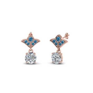 1 Ct. Art Deco Design Earring