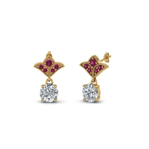 One Carat Antique Drop Earring
