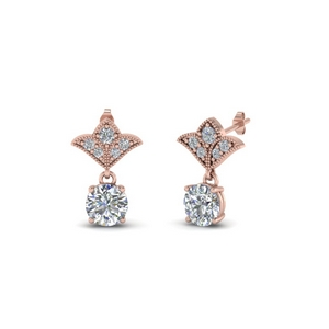 1.5 Ct. Diamond Round Art Deco Earring