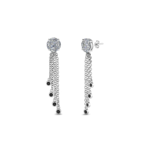 Platinum Tassel Design Earring