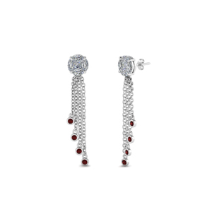 Invisible Set Earring With Ruby