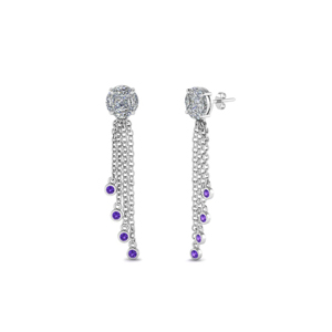 Purple Topaz Dangle Drop Earring
