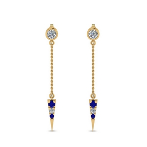 Drop Dangle Sapphire Earring