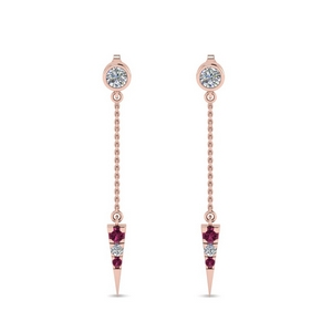 chain-drop-diamond-dangle-earring-with-pink-sapphire-in-FDEAR8456GSADRPIANGLE1-NL-RG