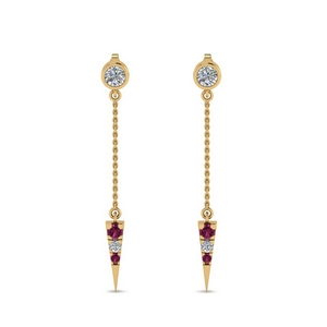 chain-drop-diamond-dangle-earring-with-pink-sapphire-in-FDEAR8456GSADRPIANGLE1-NL-YG