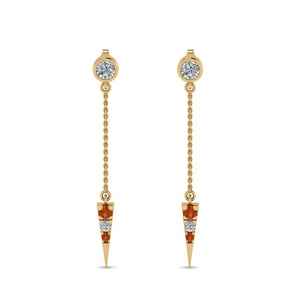 chain-drop-diamond-dangle-earring-with-orange-sapphire-in-FDEAR8456GSAORANGLE1-NL-YG