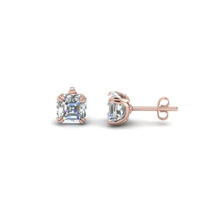 1.5 Carat Asscher Cut Diamond Earring