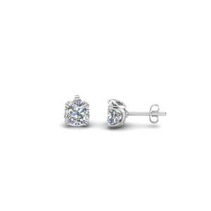 0.5 carat cushion diamond stud earring in 14K white gold FDEAR8461CU 0.25CT NL WG