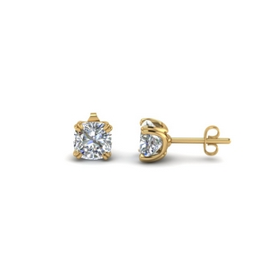 Cushion Stud Diamond Earring (1.50 ct.)