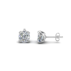 Cushion Stud Earring 2 Carat