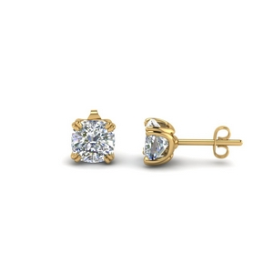 14K Yellow Gold Stud Earring
