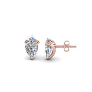 1.50 Ct. Pear Diamond Stud Earring