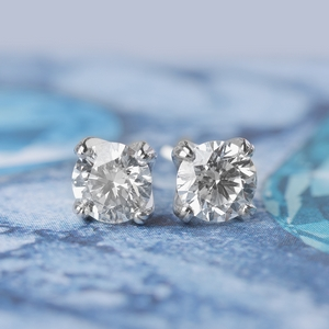 Diamond Round Stud Earring