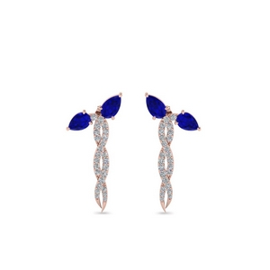 Sapphire Twisted Earring