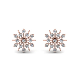Snowflake Diamond Earring
