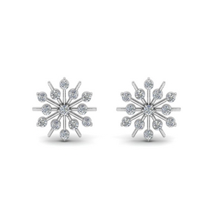 Snowflake Diamond Stud Earring
