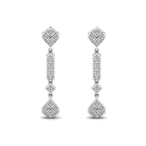 Art Deco Diamond Earring