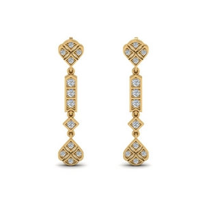 Art Deco Diamond Earring For Her