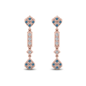 Blue Topaz Earring For Women