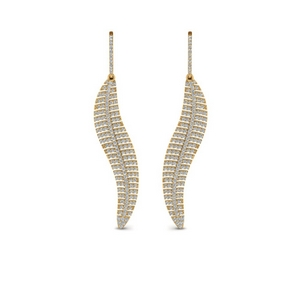 Leaf Diamond Earring