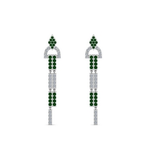 Emerald Drop Dangle Earring