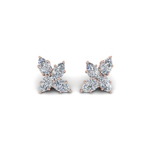 Cluster Diamond Earring For Her