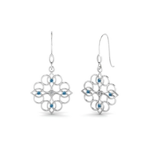 Filigree Blue Topaz Earring