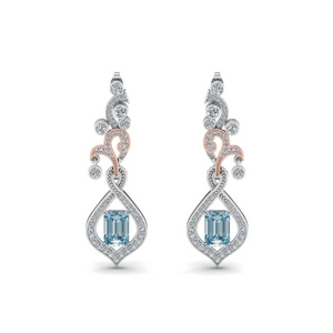 Art Deco Design Drop Earring