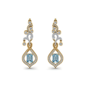 14K Yellow Gold Drop Earring