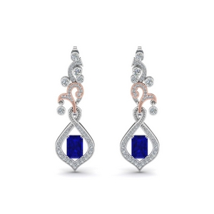 Pave Diamond Dangle Earring