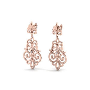 18k Rose Gold Dangle Earrings
