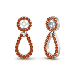 Orange Sapphire Chandelier Earring Jackets