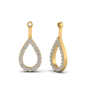 Open Pear Earring Jackets