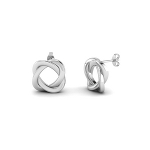 Knot Stud Earring For Her