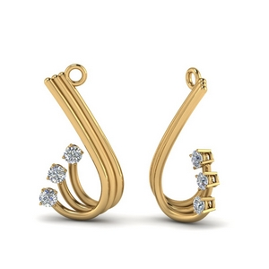 Curved Three Stone Earring Jacket