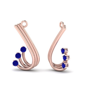 Sapphire Curved Earring Jacket