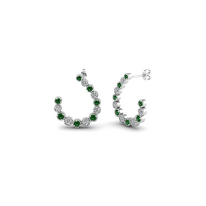 Emerald Gemstone Womens Earring