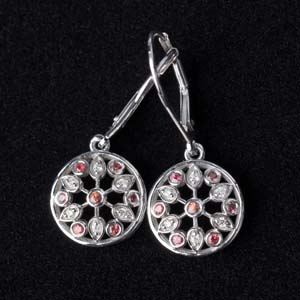 White Gold Dangle Earring