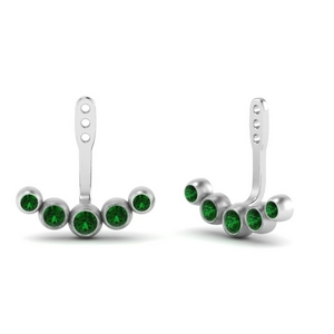 Bezel Set Earlobe Ear Jacket