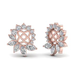 Diamond Halo Ear Jacket Earring