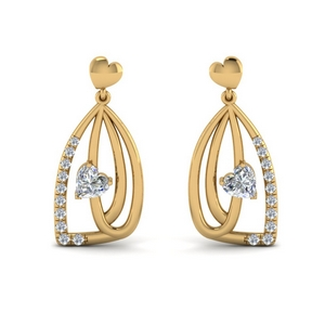 Pave Diamond Drop Earring