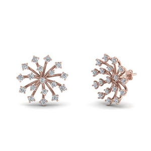 Floating Diamond Stud Earring