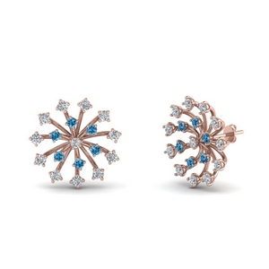 Floral Pattern Diamond Stud Earring